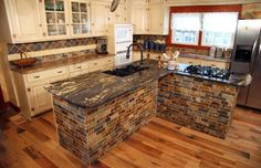 I bet I could get husband on board for this island decor... only with butcher block on top