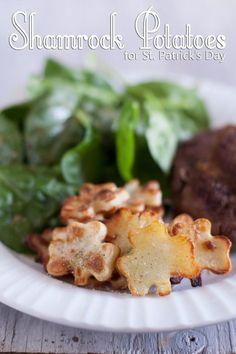 Oven Roasted Shamrock Potatoes St Patricks Day side dish recipe http://EatingRichly.com