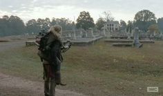 Beth (Emily Kinney) and Daryl Dixon (Norman Reedus) find a funeral home in Season 4, Episode 13 of AMC's The Walking Dead