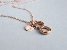 Hey, I found this really awesome Etsy listing at http://www.etsy.com/listing/165696297/rose-gold-infinity-necklacepersonalized