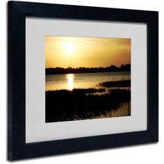 Trademark Fine Art End of the Day by Patty Tuggle, Black Frame, Size: 11 x 14, Multicolor