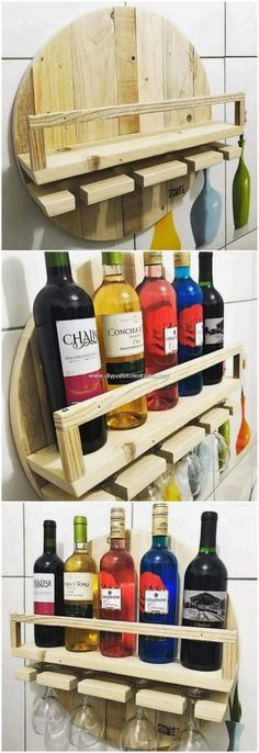 Diy Furniture - You can even add the use of wine rack coverage of project as ideal design. Diy Furniture - You can even add the use of wine rack coverage of project as ideal designing of . Wood Pallet Wine Rack, Wood Pallets, Pallet Wood, Pallet Patio, Diy Pallet Projects, Woodworking Projects, Pallet Ideas, Pallet Wall Shelves, Shelving Design