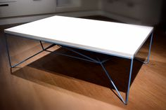 Coffee Tables – Living room table, steel and wood. – a unique product by madebyrikhard on DaWanda