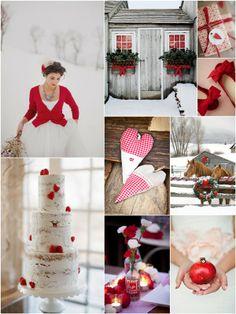 WINTER RED WEDDING INSPIRATION BOARD