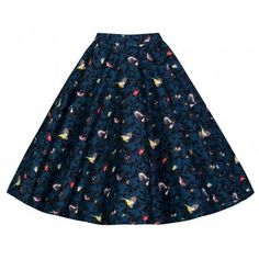 Peggy Blue Bird Skirt | Vintage Inspired Fashion - Lindy Bop