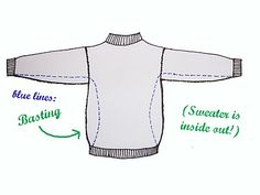 The Naked Seamstress: Sweater Refashion Tutorial