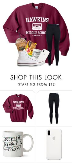 """Fave TV show contest"" by magsvolleyball2 ❤ liked on Polyvore featuring NIKE, Apple and Converse"