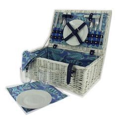 2 Person By The Seaside Picnic Hamper by MillingtonsGifts on Etsy