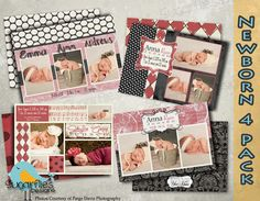 Baby Announcement Templates  Baby Girl by SugarfliesDesigns, $19.00