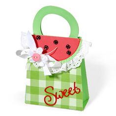 Watermelon lunch box made with sizzix dies.