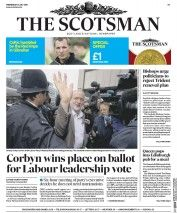 The Scotsman (UK) Newspaper Front Page for 13 July 2016