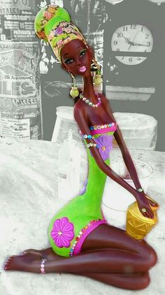 This Pin was discovered by Mal African Artwork, African Art Paintings, Black Women Art, Black Art, African Colors, Black Magic Woman, Art Africain, Africa Art, Tropical Art