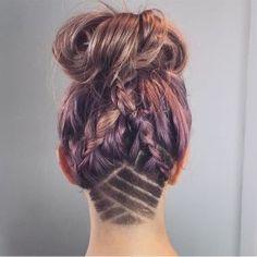 Undercut Hair Tattoos = Idgaf Summer Mane-spo