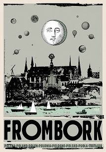 Frombork, plakat z serii Polska, Ryszard Kaja Graphic Illustration, Graphic Art, Polish Posters, Art Deco Posters, Great Paintings, Art Deco Period, Typography Prints, Illustrations And Posters, Travel Posters