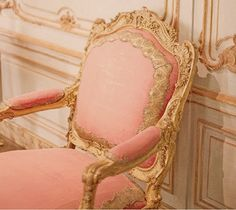 Lovely salmon chair  - more coral peach tangerine salmon and orange here: http://mylusciouslife.com/colour-me-coral/