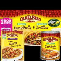 Old El Paso® Save $.60  Save $0.60 when you buy THREE Old El Paso® products  (Excludes Old El Paso® Refrigerated,  Frozen OR Soup products).  Go to www.cellfire.com to get in on this great offer!
