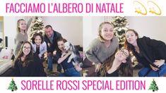 Albero di natale in famiglia - YT - Youtube video - sisters - dog
