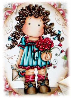 Kit and Clowder: Tilda Sending Love Letter. Magnolia Colors, Copic Markers Tutorial, Doodle Characters, Doll Quilt, Online Coloring, Marker Art, Digi Stamps, Copics, Art Wall Kids