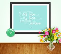 Digital Print  Albert Camus Quote  Friendship by MovingDesign, $4.55