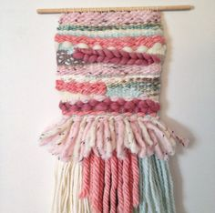 Sweet Dreams  Weaving Woven Wall Hanging by thetravellingartisan