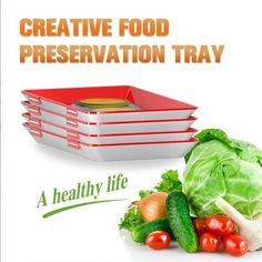 Creative Food Preservation Tray 2019 fresh food new idea, magic elastic fresh tray, can keep your fo Konservierung Von Lebensmitteln, Fresco, Decoration Patisserie, Small Refrigerator, Tapas, Food Storage Containers, Freezer Containers, Preserving Food, Weight Watchers Meals