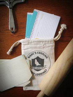 12 Paprika Recipe Cards in a Muslin Bag   Double Sided by Earmark, 10.00 usd