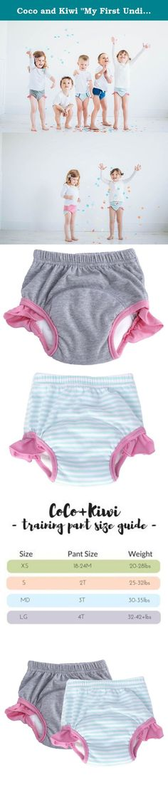 "Coco and Kiwi ""My First Undies"" Girls' 4T - MINT+GREY - 2pk - Reusable Pull-on Baby and Toddler Underwear + Potty Training Pants. Switch to underwear without puddles with our ""My First Undies"" collection. We utilize the absorbent power of bamboo + microfiber! Bring a bit of fun back into potty training while bringing a bit of sanity to mothers everywhere. Our Absorbent Toddler Underwear are meant for potty training and beyond. Comfy and fun designs are perfect for toddler through..."