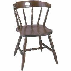 Colonial Wood Side Chair - Wood Seat. Availability: In Stock. Minimum order of 8. Chair constructed from European beech wood. Mortise and tenon construction reinforced with metal brackets.