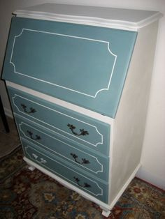 Teal Secretary Desk