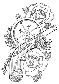 Steampunk Coloring Pages | streampunk clock colouring pages