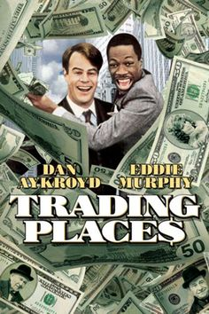 Trading Places: Eddie Murphy, Dan Ackroyd and Jamie Lee Curtis. Absolutely one of the funniest movies I have ever seen. Still holds up today. Movies Of The 80's, Movies To Watch, Good Movies, Movies And Tv Shows, Film Watch, Movies Free, Popular Movies, Latest Movies, See Movie