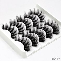 Women's 3D Thick False Eyelashes 5 Pair Set Type 10 #BumpsUnderEyes Natural False Eyelashes, Thicker Eyelashes, Longer Eyelashes, Mink Eyelashes, Eyelashes Makeup, Wispy Lashes, Fake Lashes, Long Lashes, Soft Eye Makeup