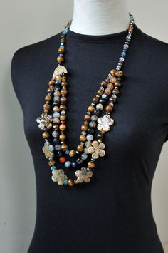 Beaded Necklace made from natural gemstone