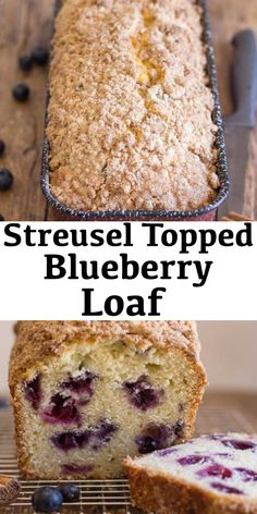Streusel Topped Blueberry Loaf Blueberry Bread, is the perfect way to bake with blueberries, a delicious blueberry filled sweet loaf, with a yummy Streusel Topping, perfect anytime. Loaf Bread Recipe, Loaf Recipes, Baking Recipes, Coffee Bread Recipe, Köstliche Desserts, Delicious Desserts, Dessert Recipes, Yummy Food, Blueberry Loaf