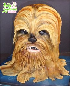 Chewbacca (Star Wars) cake by Bety'Sugarland
