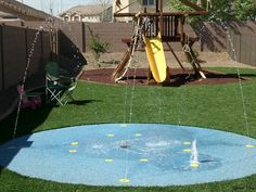 Backyard splash pad....YES PLEASE!!!