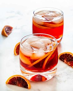 Americano Cocktail - This cocktail is bright, citrusy, and perfect as a summery treat at the end of the day. Simply mix the ingredients over ice and enjoy! Campari Cocktails, Italian Cocktails, Classic Cocktails, Fun Cocktails, Cocktail Garnish, Cocktail Recipes, Drink Recipes, Yummy Chicken Recipes, Yum Yum Chicken