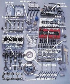 Mechanical Engineering: Honda engine car Deconstructed - Everything You Need To Know About Car Tuning Mécanicien Automobile, Course Automobile, Jdm Engines, Race Engines, Vtec Engine, Car Engine, Maintenance Automobile, Garniture Automobile, Honda Vtec