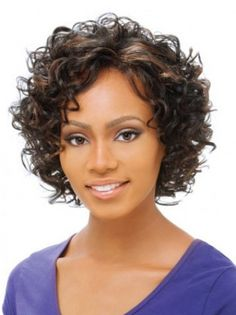 SKU:HW02104; Material:Synthetic; Cap Construction:Lace Front; Cap Construction:Lace Front; Length:Short; Hair Style:Curly;