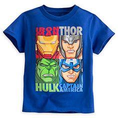"""Camiseta infantil """"Recuadros"""" Los Vengadores"""
