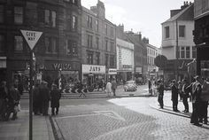 View looking into the Murraygate from the Wellgate. Online Scrapbook, Dundee, Historical Photos, Scotland, Street View, History, City, 1970s, Vintage