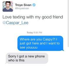 Troye Sivan and Caspar Lee