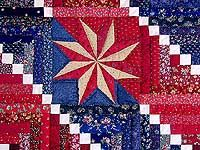 Cornerstone Quilt with Stars - absolutely stunning!