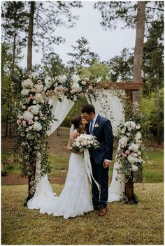 Dogwood Venue Wedding Hattiesburg, Mississippi An Outdoor Wedding - Mississippi Wedding Vendors - Wedding Ceremony Ideas, Wedding Arbors, Outdoor Wedding Decorations, Outdoor Weddings, Outdoor Wedding Alters, Arch For Wedding, Cowboy Weddings, Wedding Aisles, Wedding Backdrops