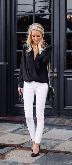 48ced1e1e9c Black and White outfit idea  ShopStyle  shopthelook  MyShopStyle   GirlsNightOut  DateNight