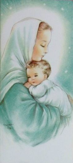 Charlot Byj Christmas Scenes, Christmas Nativity, Christmas Images, Christmas Art, Catholic Christmas Cards, Christmas 2016, Blessed Mother Mary, Blessed Virgin Mary, Catholic Art
