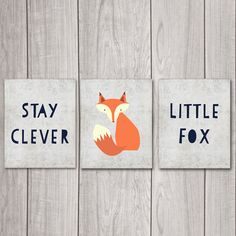Stay Clever Little Fox - Set of Three 8x10s