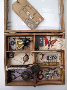 Steampunk bugs #steampunk #display This would be fun in the bathroom :@)