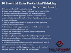 Bertrand Russell's 10 Essential Rules Of Critical Thinking