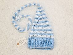 long-tail striped elf hat $15